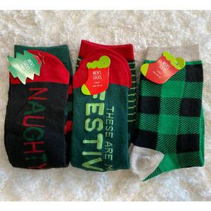 Festive Christmas Socks - 3 pairs NEW Size: 10-13